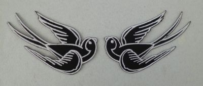 Lot de 2 patches Hirondelle