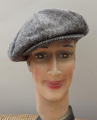 Casquette Gatsby Hanna Hats of Donegal - Tweed gris/marron moucheté
