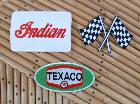 Lot de 3 patchs Indian /Texaco / drapeau course