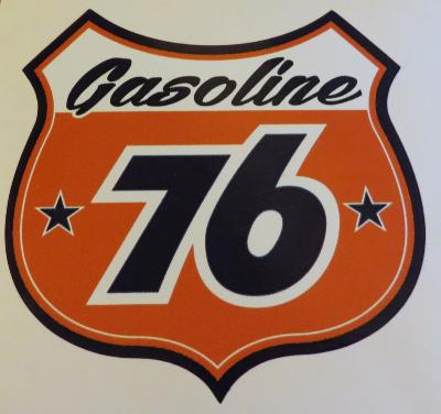 Sticker gasoline 76