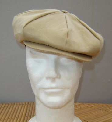 Casquette Gatsby Hanna Hats of Donegal - Lin couleur sable