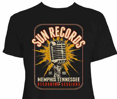 "T-shirt Sun Records ""Memphis Tennessee Recording Sessions"""