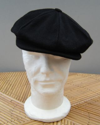 Casquette Gatsby Hanna Hats of Donegal - Tweed noir