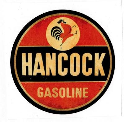 Sticker Hancock Gasoline