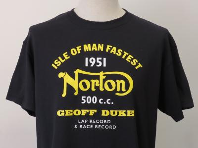 T-shirt Norton noir - Isle of Man
