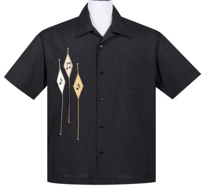 "Chemise Steady Clothing ""3 Notes"" noire"