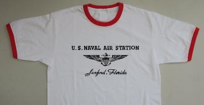 T-shirt USN Sanford Florida - col rouge