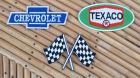 Lot de 3 patchs Texaco / Chevrolet / drapeau de course