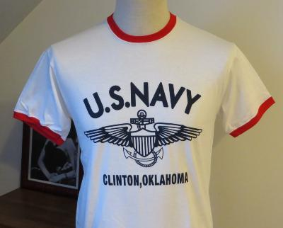 T-shirt US Navy - rouge