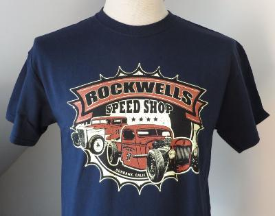 T-shirt Burbank Rockwells Speedshop - bleu