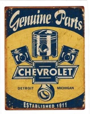"Sticker ""Chevrolet - Genuine Parts"""