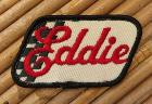 Patch vintage - Eddie - rouge