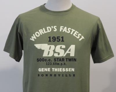 T-shirt BSA kaki