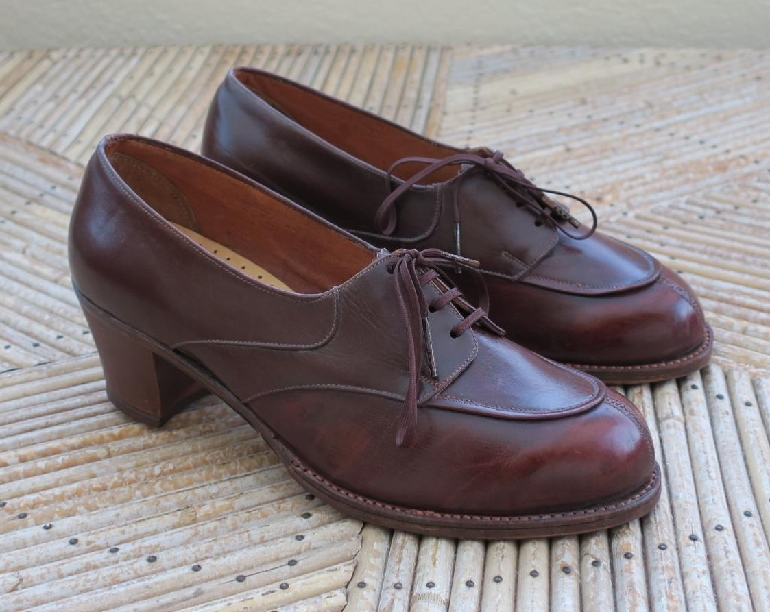 Chaussures Vintage Des Ann 233 Es 1940 Pointure 36 5