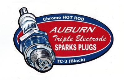 Sticker Chrome Hot Rod Auburn