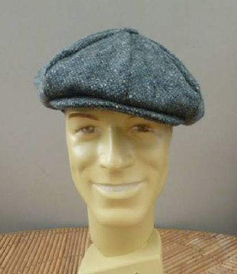 Casquette Gatsby Hanna Hats of Donegal - Tweed gris moucheté