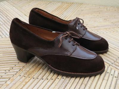 Chaussures vintage des ann es 1940 pointure 36 - Chaussures annees 50 femme ...