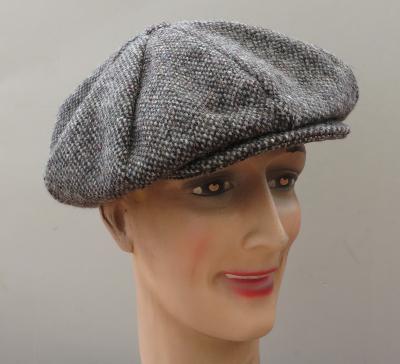 ... Casquette Gatsby Hanna Hats of Donegal - Tweed gris marron moucheté ... b4cd63756180