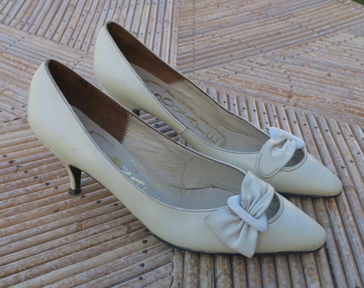 Des 35 Vintage Années Chaussures Blanches Pointure 1960 5 rdhCBsxtoQ