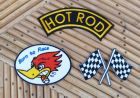 Lot de 3 patchs Hot Rod