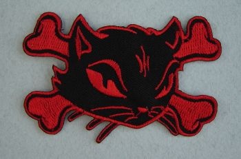 Patch Chat rouge et noir
